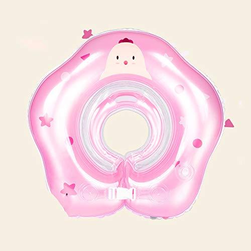 BuBu-Fu Baby-Schwimmschwimmer-Halsring, Baby-Schwimmtrainer, Aufblasbarer Schwimmschwimmer, Baby-Schwimmschwimmer 6-12 Monate, Baby-Wassersitz Mit Ringen,Bredcolor