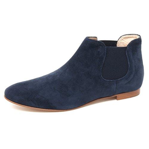 B4461 beatles donna TOD'S scarpa tronchetto blu boot shoe woman Blu