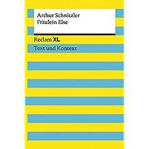 Fräulein Else: Reclam XL – Text und Kontext