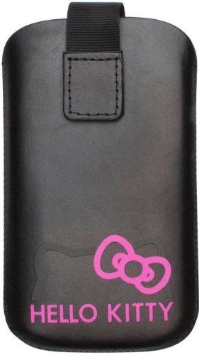 Hello Kitty Universal Leder Hülle für Smartphone schwarz/pink