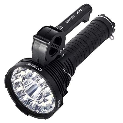 Preisvergleich Produktbild Acebeam X70 Ultra Bright Rechargeable Flashlight - 12 x CREE XHP70.2 LED and 1 x CREE XHP35 HI LED - 60000 Lumens