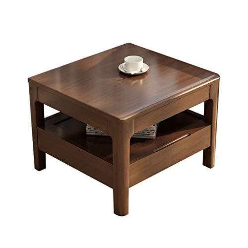 Xu-table Schlafzimmer Lagerung Niedriger Tisch, Sofa TV-Fernbedienung Speicher Schreibtisch, Büro Entertain lesen Schreibtisch, Holz (Color : Brown)