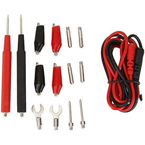 1 Juego de Múltiples Funciones de la Abrazadera del Cable conductor de Prueba Cocodrilo Sonda Multímetro