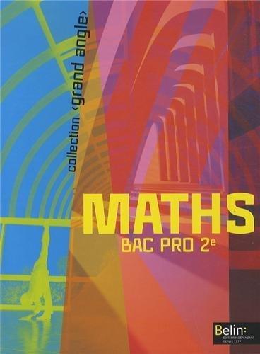 Maths 2e bac pro : Grand Angle (1CD audio) de Christophe Rejneri (22 mai 2013) Broché