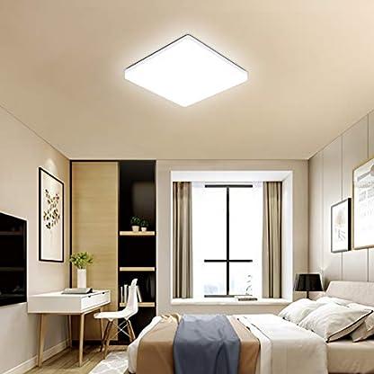 OOWOLF Plafoniera LED Soggiorno, Plafoniera LED Soffitto Moderna 25W, Plafoniera per Soggiorno, Camera da Letto, Bagno, Cucina, Ufficio