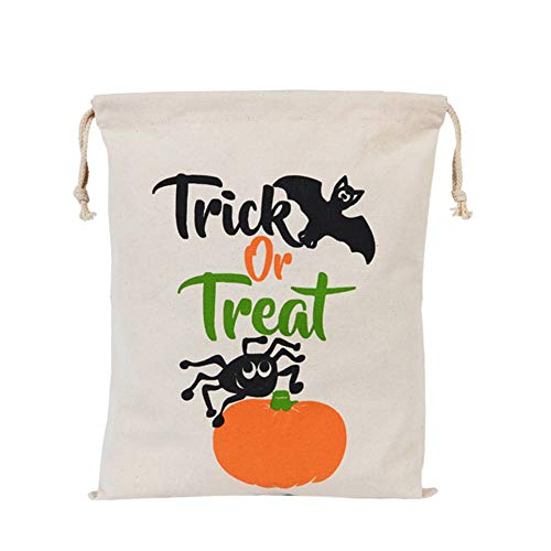 Halloween-Geschenktüten Trick or Treat Geschenktüten mit Kordel Kürbistasche für Halloween Geschenke