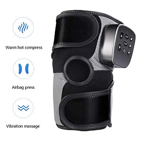 Knie Massagegerät Infrarot Magnetisch Therapie Arthritis Hüfte Schulter Zurück Automatisch Zeitliche Koordinierung Einstellen Vibration,Black (Infrarot-therapie-massagegerät)