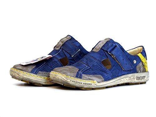 Kacper Donna Mocassini piatti blu, (blau-kombi) 2-4308 460 blau-kombi