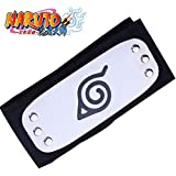 Naruto Cosplay Accesorio Leaf Village Black Leaf Village Headband Konohagakure Shinobi Stirnband Anime Manga Cosplay Estilo 1