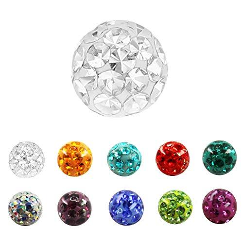 Treuheld Multi-Kristall-Kugel - [20.] 1,2mm x 4mm Pink