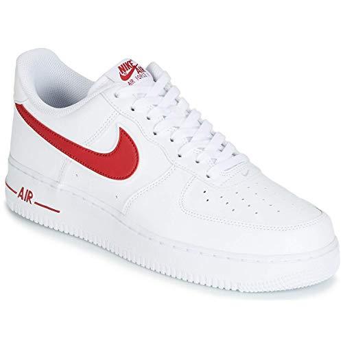Nike Herren Air Force 1 '07 3 Basketballschuhe, Mehrfarbig (White/Gym Red 102), 42 EU