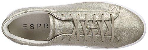ESPRIT - Lizette Lace Up, Scarpe da ginnastica Donna Verde (Grün (265 pale khaki))