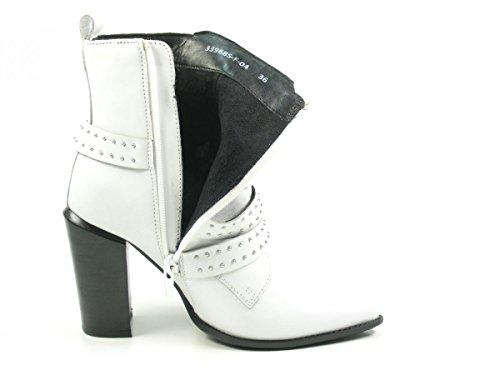 6fea43c33e7a3c Bronx Bamericanax 33968-F-04 Schuhe Damen Ankle Boots Biker Stiefeletten  Offwhite ...