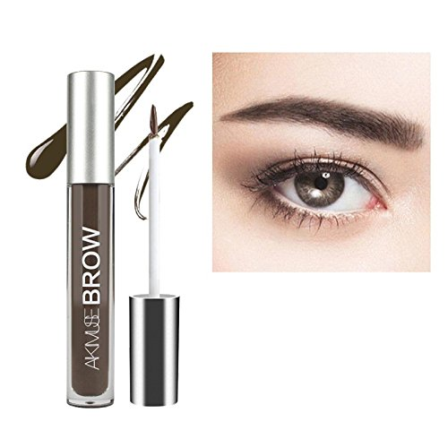 Gel Sourcils, KISSION Boir Brun Teinte Sourcils Gel Maquillage Sourcils, 2 Minutes Gel Imperméable Aux Sourcils + Pinceau Teinte Sourcils Colorant (BLACKBROWN)