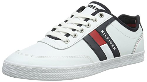 Tommy Hilfiger Herren D2285ONNIE 10A Sneakers, Weiß (R/W/B 910), 42 EU