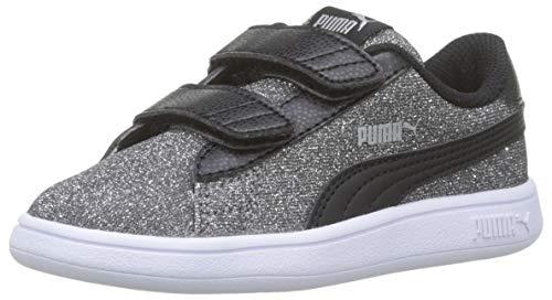 Puma Baby Mädchen Smash V2 Glitz Glam V Inf Sneaker, Schwarz (Puma Black-Puma Silver-Puma White), 23 EU