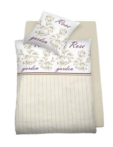 Schlafgut Mako-Satin Bettwäsche 4894-161 155x220 cm 80x80 Rose Garden (Bettwäsche-set Rose Garden)