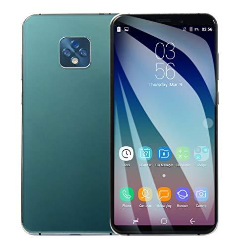 FeiliandaJJ Smartphone 6.1 Inch Face ID 1GB+8GB Quad-Core Dual SIM Ultra Dünn HD Bildschirm Android 6.0 Smartphone Ohne Vertrag Günstig Handys Mobile Phone 2800mAh Extra Lange Standby (Minzgrün) (Verizon Nicht Vertrag Smartphones)