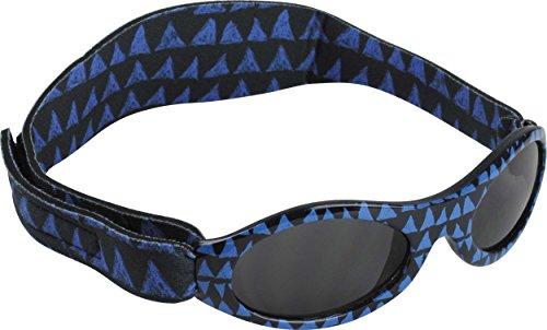 Dooky Baby Banz Baby-Sonnenbrille 0-2 Jahre | Blue Tribal | 100% UV-A und B Schutz UV400 | Mit verstellbarem Neoprenband