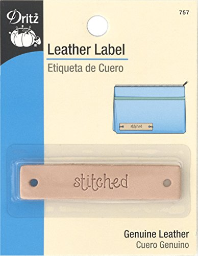 Dritz Cuir Label-rectangle-stitched-1 CT., Stitched-rectangle