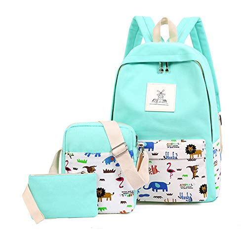 jjyxny Teens Rucksack für Schule Jungen Mädchen Schule Schultasche Set Reisen Tagesrucksack