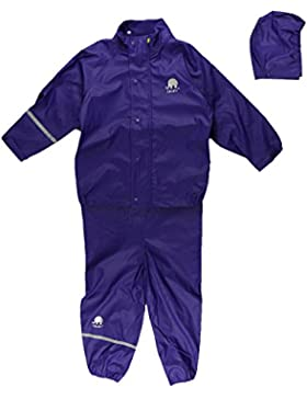 CELAVI Mädchen Regenmantel Basic Rainwear Suit-Solid