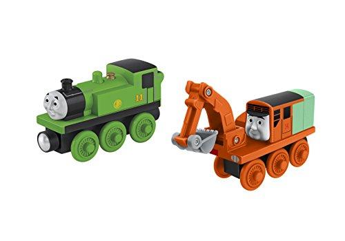 Mattel Fisher-Price CDK37 - Thomas und seine Freunde Holzlokomotive Oliver & Oliver (2er Pack)
