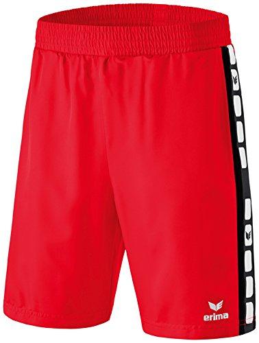 erima Kinder Shorts 5-C, Rot/Schwarz, 164