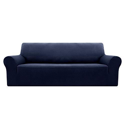 Deconovo copridivano 3 posti elasicizzato fodera protettiva per divano blu navy