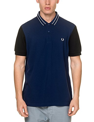 Fred Perry Herren Poloshirt mehrfarbig blau French Navy