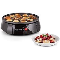 oneConcept Queen Poffertjes piastra con stampi preformati per pancake (superficie antiaderente, tempo di cottura rapido (Mini Natale Piastra)