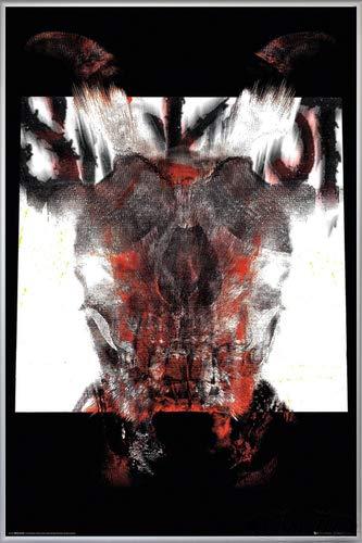 Close Up Slipknot Poster Album Cover 2019 (93x62 cm) gerahmt in: Rahmen Silber matt