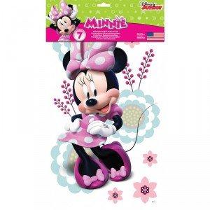 Roommates-Pegatinas reutilizables, diseño de Minnie Mouse () 7 unidades, diseño estilo: infantil para niño