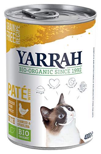 YARRAH Bio Katzenfutter Pate mit Huhn 400 g, 12er Pack (12 x 400 g) -