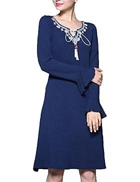 Ropa De Otoño Yardas Grandes La Moda El Temperamento Perfecto Vestidos