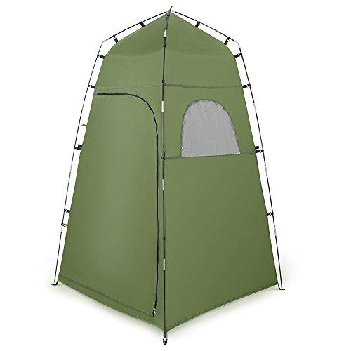 Terra Hiker Umkleidezelt, Tragbares Strand Camping Toilettenzelt, Wasserfest mit Fenstern, Outdoor Privates Duschzelt