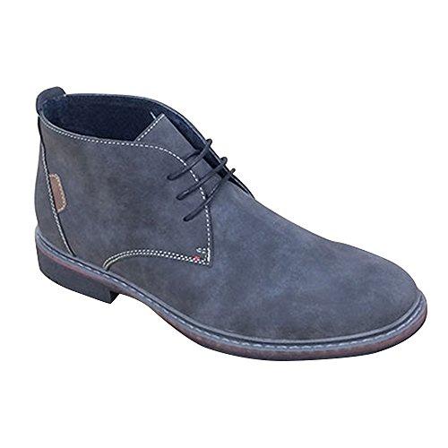 Goor Mens - Scarpe alla caviglia finta pelle scamosciata - Uomo Grigio