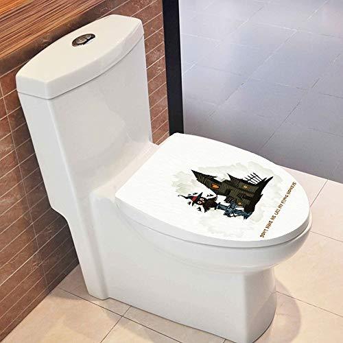TAOtTAO Hallowmas WC Adesivo da Parete Adesivi in Vinile di Arte Wallpaper Rimovibile Decor, PVC, G 32X37.5cm, 32X37.5cm