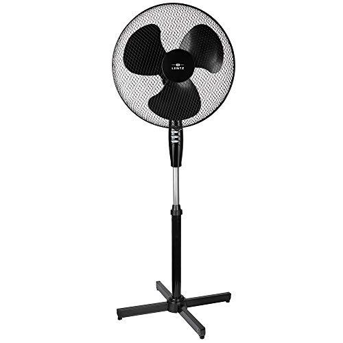 Ventilator, drehbar/oszillierend, 3 Geschwindikeiten (Standventilator, Schwarz)