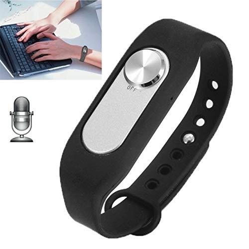 Allshopstock (#117) Tragbare Armband 4GB Digital Voice Recorder Handgelenk Watch, eine Knopf- Lang Time Recording (Schwarz) (Handgelenk Voice Recorder)
