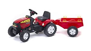 Falk - 975A - Vélo et Véhicule pour Enfant - Tracteur Farmer + Remorque PM