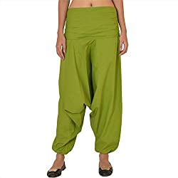 Skirts & Scarves Womens Cotton Casual Harem / Yoga Pants / Pajama (Green)