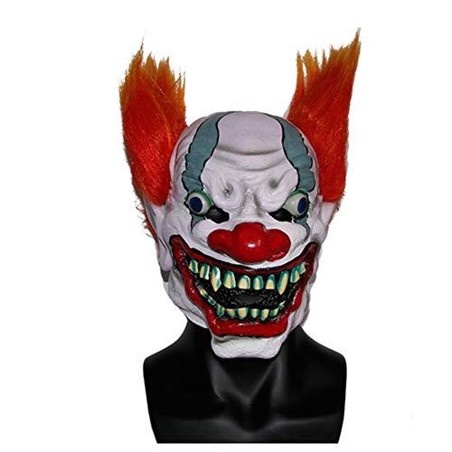 QWW Halloween Horror Killer Joker Maske für Herren und Damen aus Latex Clown Kostüm Verkleidung,11