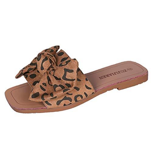 Wawer_Damen Sandalen ZUJIJIAREN EIN-Schulter-Sandalen mit flachem Boden und Wilden Schleifen, Sandalen und Pantoffeln, imitierter chinesischer Hibiskus, einfach, bequem und praktisch