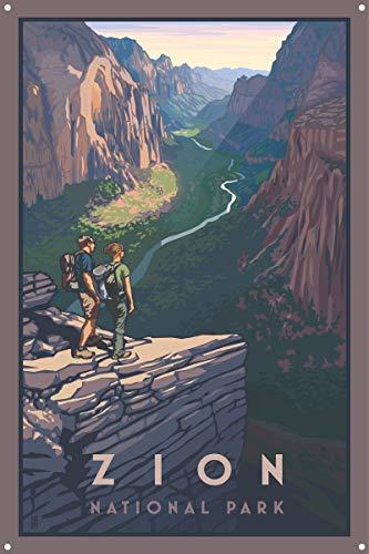Northwest Art Mall Zion Canyon, Zion National Park Metall Kunstdruck von {Künstler. fullname} ({outputsize. shortdimensions}) 12x18 inch