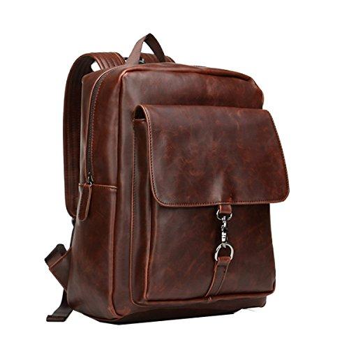 Yy.f Sacchetto Maschio Il Nuovo Piccolo Sacchetto Di Spalla Di Fresco Lo Zaino Degli Uomini Alla Moda Cavallo Pazzo Retro Big Bag 2 Colori Brown