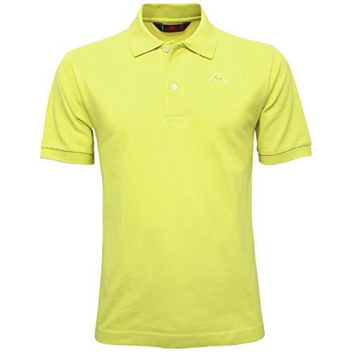 Kappa AARAU Polo-Shirt, Weiss Yellow Lemon