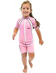 Cressi Unisex Wetsuit Neoprene, Traje de Buceo 1.5 mm para Niños, Rosa (Pink/White), 3-4 Años (Talla fabricante: M)