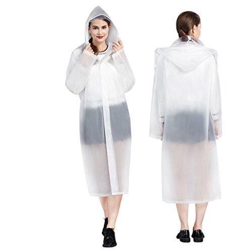 Guo Einzel Tourismus Transparent Raincoat Adult Raincoats Wasserdicht Wasserdicht Männer und Frauen im Freien langer Abschnitt Raincoat ( farbe : # 2 , größe : L ) # 2