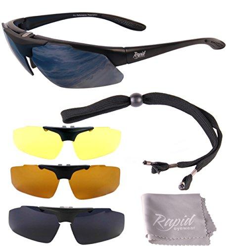Rapid Eyewear Aviate PILOT SONNENBRILLE für Damen und Herren mit Sehstärke Optionen und Wechselgläser. Rx Rahmen für Brillenträger. UV schutz 400. Entsprechen den Empfehlungen der Luftfahrtbehörde